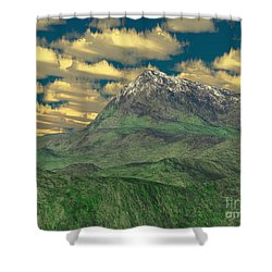 View To The Mountain Shower Curtain by Gaspar Avila