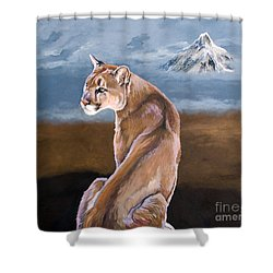 Vigilance Shower Curtain by J W Baker