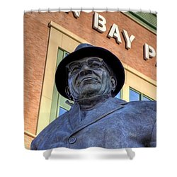 Vince Lombardi Shower Curtain by Joel Witmeyer