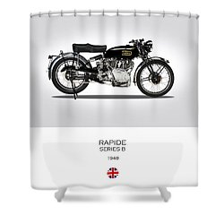 Vincent Hrd Rapide 1948 Shower Curtain by Mark Rogan