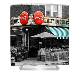 Vintage Coca Cola Signs Shower Curtain by Andrew Fare