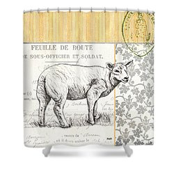 Vintage Farm 3 Shower Curtain by Debbie DeWitt