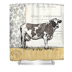 Vintage Farm 4 Shower Curtain by Debbie DeWitt