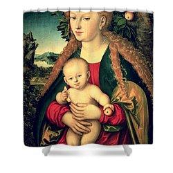 Virgin And Child Under An Apple Tree Shower Curtain by Lucas Cranach the Elder