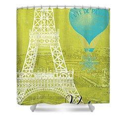 Viva La Paris Shower Curtain by Mindy Sommers