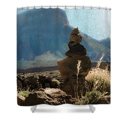 Volcanic Desert Composition Shower Curtain by Loriental Photography