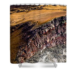 Shower Curtain featuring the photograph Volcanic Ridge II by M G Whittingham