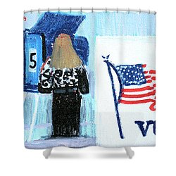 Voting Booth 2008 Shower Curtain by Candace Lovely