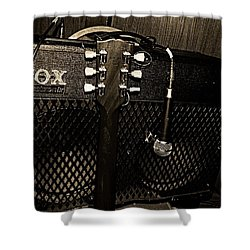 Vox Amp Shower Curtain by Chris Berry