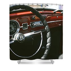 Vw Beetle Interior Shower Curtain by Georgia Fowler