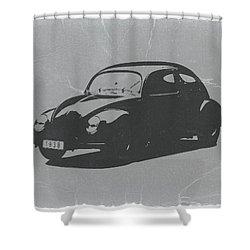 Vw Beetle Shower Curtain by Naxart Studio