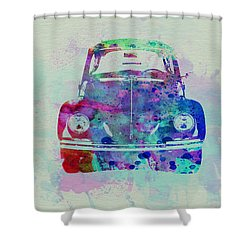 Vw Beetle Watercolor 2 Shower Curtain by Naxart Studio