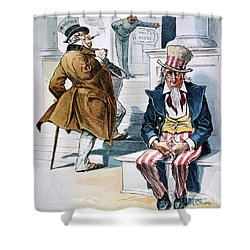 W. Mckinley Cartoon, 1896 Shower Curtain by Granger