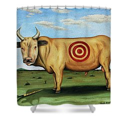 W T F Shower Curtain by Leah Saulnier The Painting Maniac