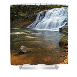 Wadsworth Falls Shower Curtain by David Freuthal