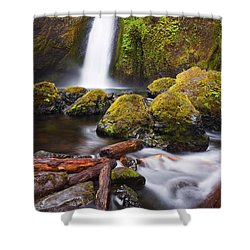 Wahclella Shower Curtain by Mike  Dawson