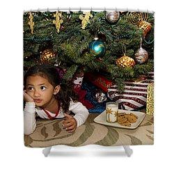 Waiting For Santa Shower Curtain by Sri Maiava Rusden - Printscapes