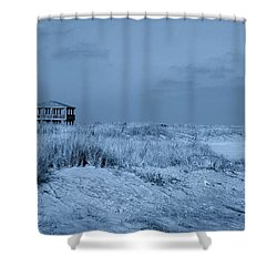 Waiting For Summer - Jersey Shore Shower Curtain by Angie Tirado