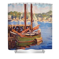 Waiting For Sunset Shower Curtain by Dianne Panarelli Miller