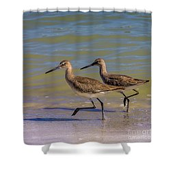 Walk Together Stay Together Shower Curtain by Marvin Spates
