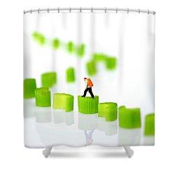 Walking On Celery  Shower Curtain by Paul Ge