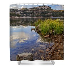 Wall Lake Shower Curtain by Chad Dutson