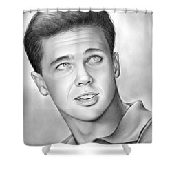 Wally Cleaver Shower Curtain by Greg Joens