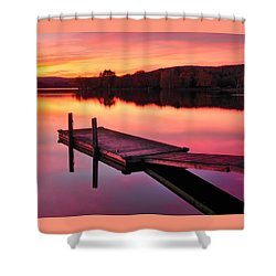 Waramaug Sunset Shower Curtain by Thomas Schoeller