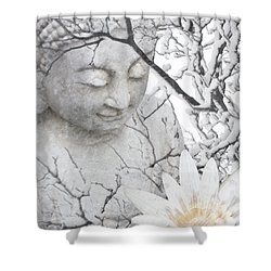 Warm Winter's Moment Shower Curtain by Christopher Beikmann
