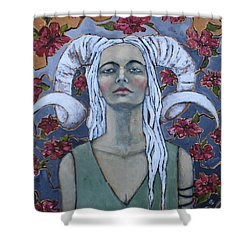 Warrior Shower Curtain by Jane Spakowsky