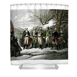 Washington And His Generals  Shower Curtain by War Is Hell Store