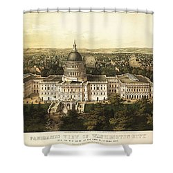 Washington City 1857 Shower Curtain by Jon Neidert