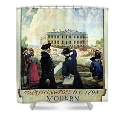 Washington D C Vintage Travel 1932 Shower Curtain by Daniel Hagerman