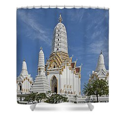 Wat Phitchaya Yatikaram Prangs Dthb1186 Shower Curtain by Gerry Gantt