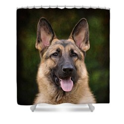Watchful Shower Curtain by Sandy Keeton