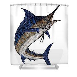 Water Color Tribal Marlin IIi Shower Curtain by Carol Lynne