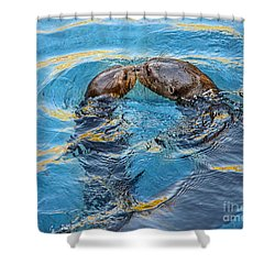 Water Kisses Shower Curtain by Jamie Pham