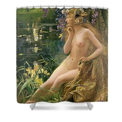 Water Nymph Shower Curtain by Gaston Bussiere