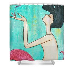 Water Nymph Shower Curtain by Natalie Briney