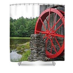Water Wheel Vermont Shower Curtain by Edward Fielding