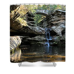 Waterfall At Old Man Cave Shower Curtain by Larry Ricker