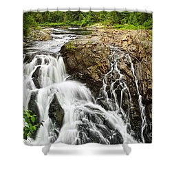 Waterfall In Wilderness Shower Curtain by Elena Elisseeva