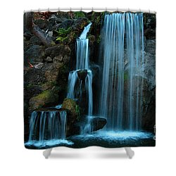 Waterfalls Shower Curtain by Clayton Bruster