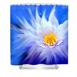 Waterlillies Transformed Shower Curtain by Ian  MacDonald