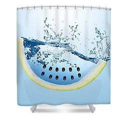 Watermelon Splash Shower Curtain by Marvin Blaine