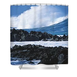 Waves And Rocks Shower Curtain by Kyle Rothenborg - Printscapes