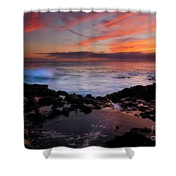 Waves Of Paradise Shower Curtain by Mike  Dawson
