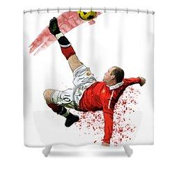 Wayne Rooney Shower Curtain by Armaan Sandhu