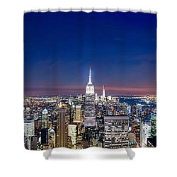 Wealth And Power Shower Curtain by Az Jackson