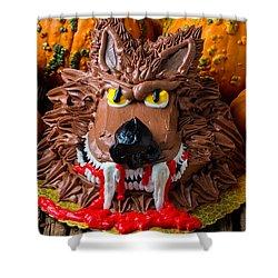 Wearwolf Cake Shower Curtain by Garry Gay